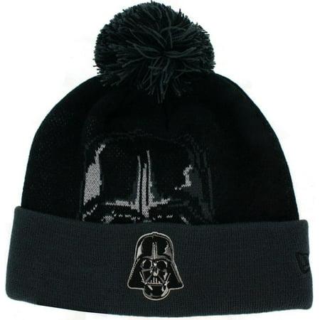 Star Wars Darth Vader Woven Biggie Knit Hat with Pom - Darth Vader Beanie