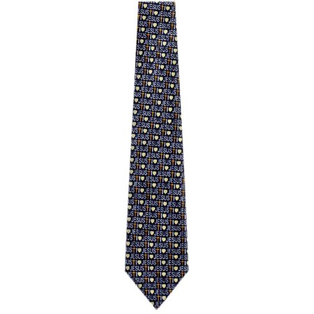 Mens Novelty Themed Christian Tie  - Navy