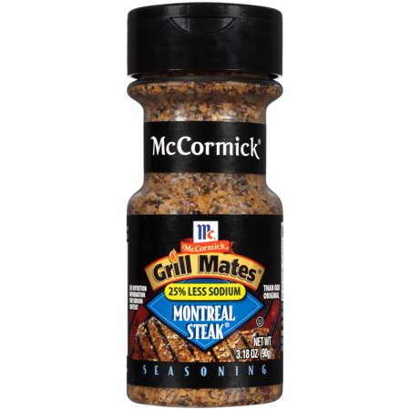 (2 Pack) McCormick Grill Mates 25% Less Sodium Montreal Steak Seasoning, 3.18 oz