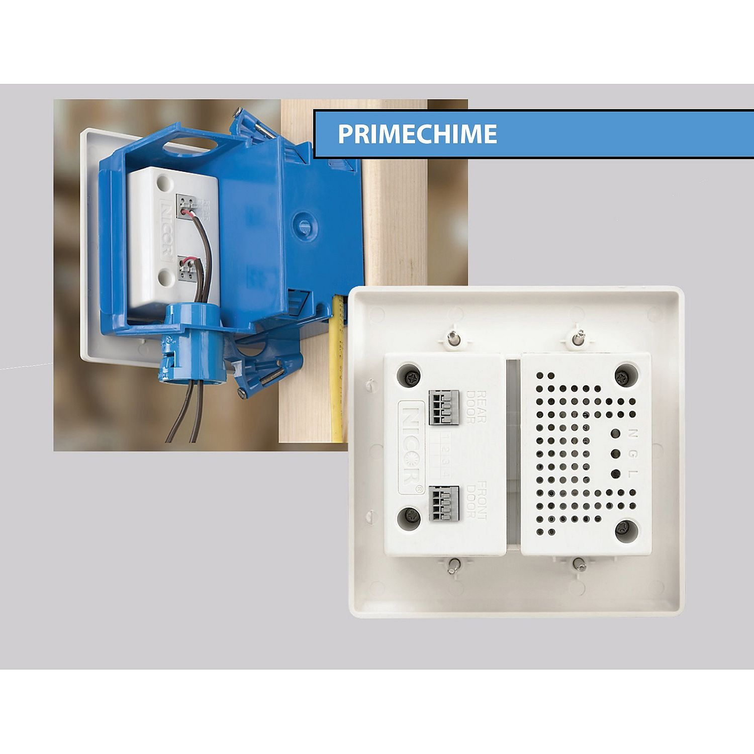 Merveilleux Product Of NICOR Wired Door Bell In Wall Chime Kit   2 Lighted Buttons