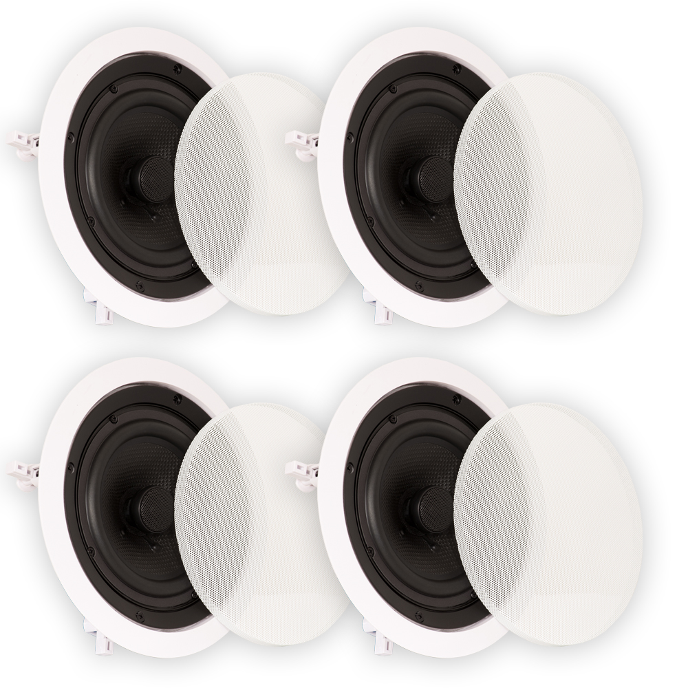"""Theater Solutions TS65C In Ceiling 6.5"""" Speakers Surround Sound Home Theater 2 Pair"""