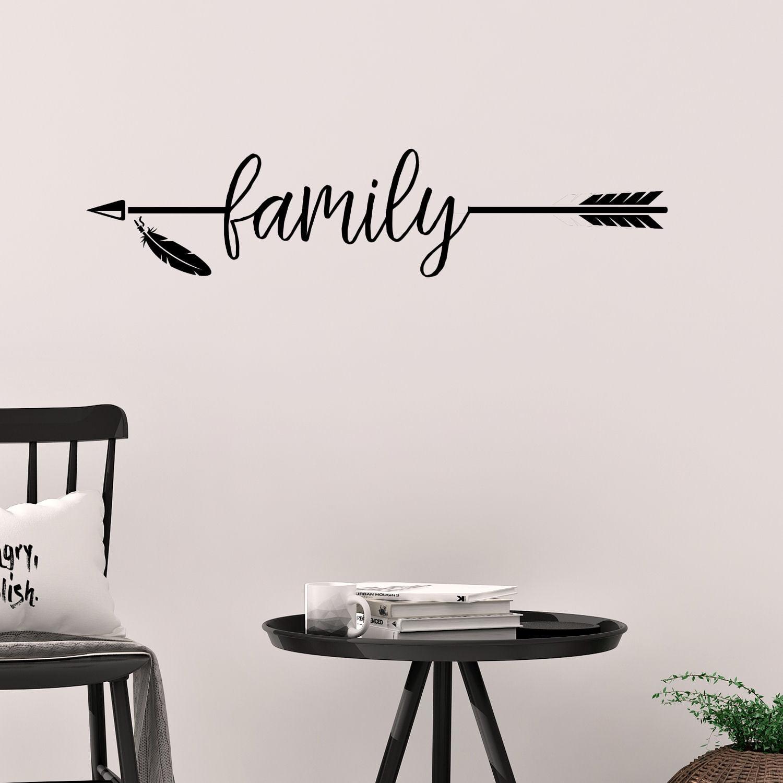 Family Arrow Vinyl Wall Decal Home Decor - Walmart.com ...