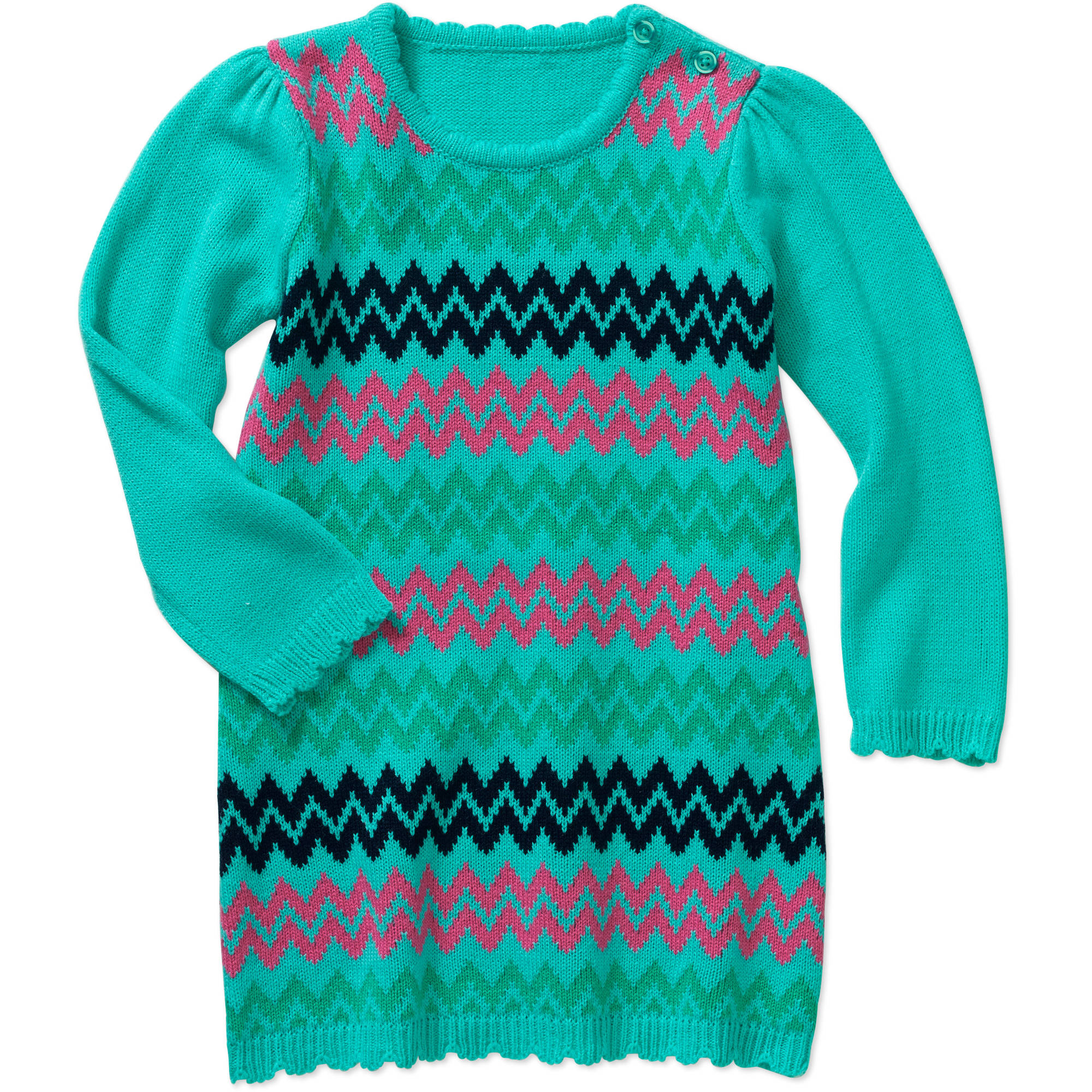 Healthtex Toddler Girl Chevron A-Line Sweater Dress