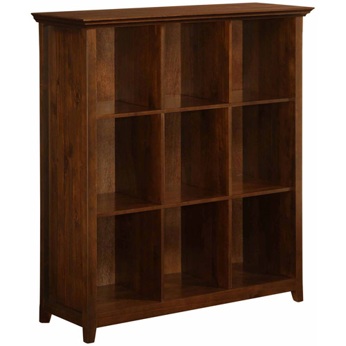 Brooklyn + Max Brunswick Collection Tobacco Brown 9-Cube Bookcase and Storage Unit