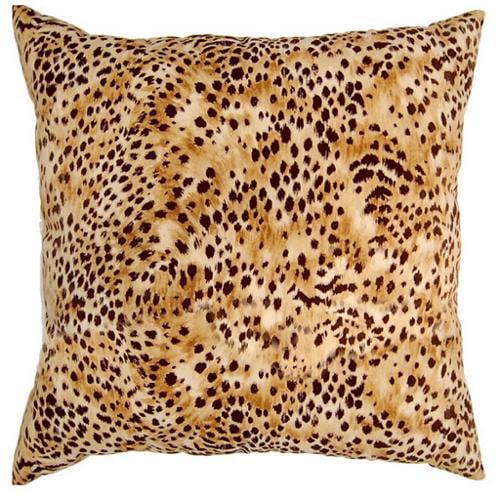 Fox Hill Trading Kit Kat Amber Cheetah Print 17-inch Throw Pillows (Set of 2)