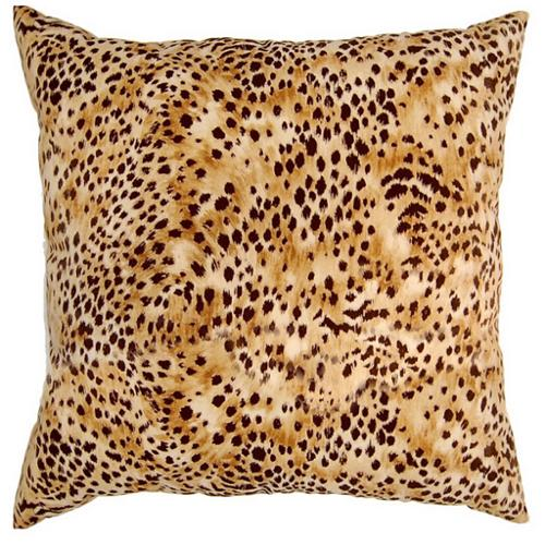 Fox Hill Trading Kit Kat Amber Cheetah Print 17-inch Throw Pillows (Set of 2)