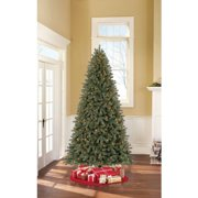 Holiday Time Pre-Lit 7.5' Claxton Pine Artificial Christmas Tree, Clear Lights