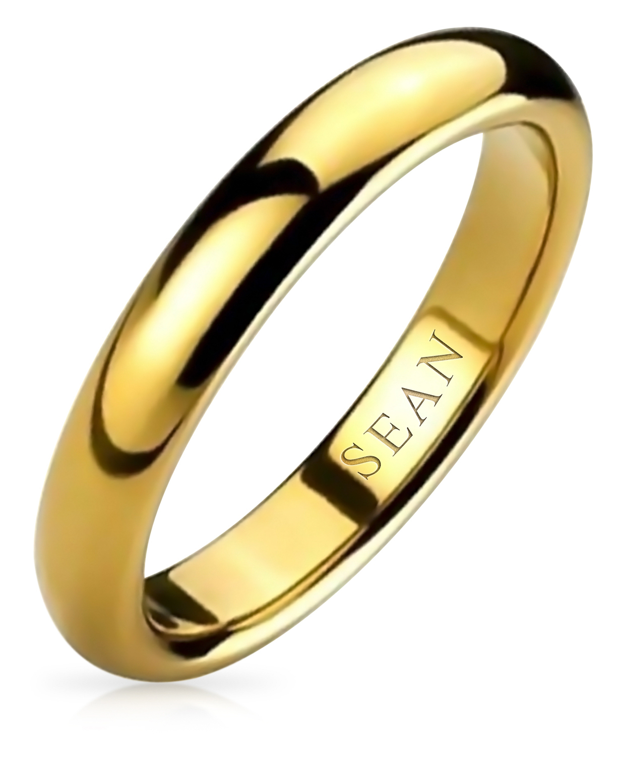 Awesome 14k Rose Gold Plated 5 mm Simple High Polish Classic Comfort Fit Engagement Wedding Band Ring