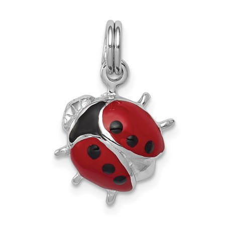 925 Sterling Silver Enamel Ladybug Pendant Charm Necklace Insect Fine Jewelry Ideal Gifts For Women Gift Set From Heart