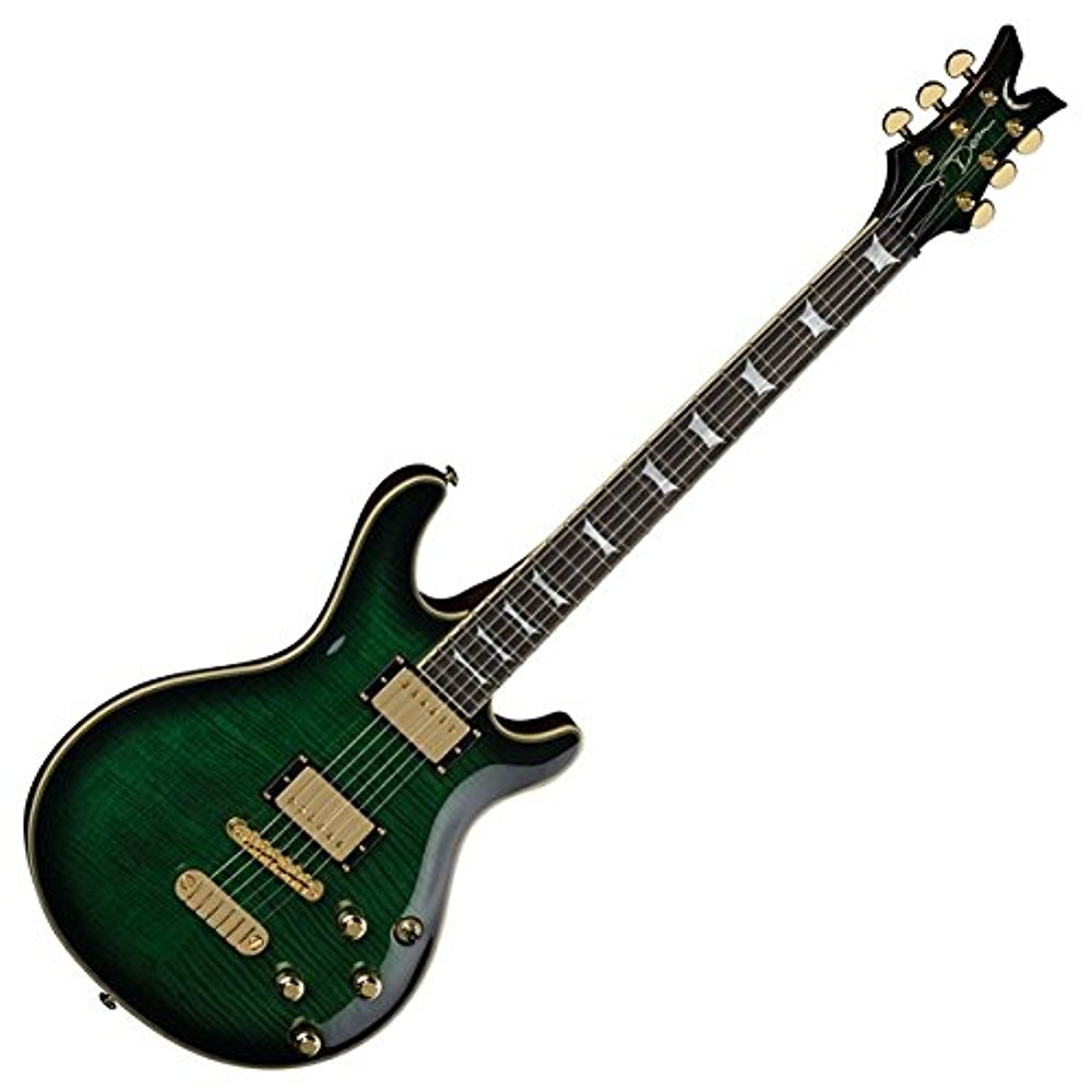 Dean DCR ICON TGR Dean Custom Run 15 Icon Trans Green Electric Guitar by Dean