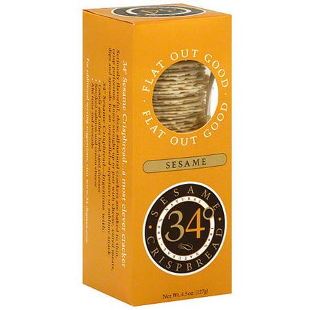 Image of 34 Degrees Sesame Crispbread, 4.5 oz (Pack of 18)