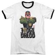 Judge Dredd In My Sights Mens Adult Heather Ringer Shirt
