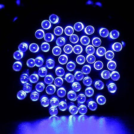 LUCKLED Solar String Lights, 39ft 100 LED Decorative Outdoor String Lights, Waterproof Fairy Led String Lights (Pink)