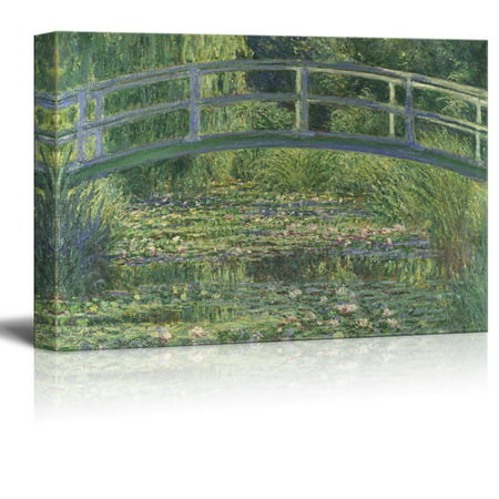 Famous Painting of The Water Lily Pond Under a Bridgeby Claude Monet Gallery 32x48 inches