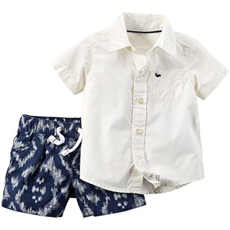 Baby Boys' 2 Piece Set, Ivory, 3