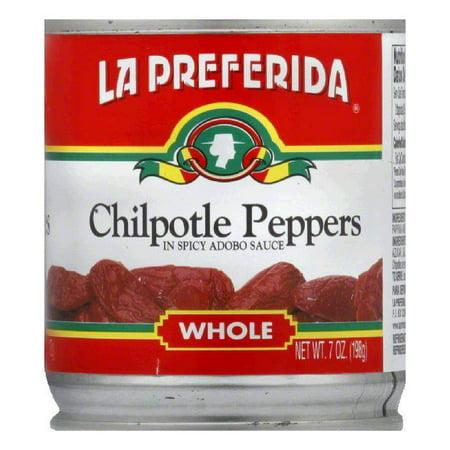 La Preferida Chiles Chipotle Whole, 7 OZ (Pack of 12)