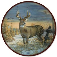 WGI-GALLERY Whitetail Deer in Winter Lazy Susan