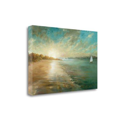 Tangletown Fine Art Coastal Glow Painting Print On Canvas Walmart Com Walmart Com