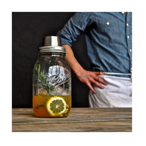 Wine Enthusiast Mason Jar Cocktail Shaker