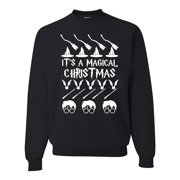 It's a Magical Xmas Broom Witch Wizard Glasses Mens Ugly Christmas Sweater