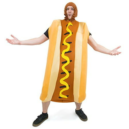Boo! Inc. Footlong Hotdog & Wiener Bun Halloween Costume, Unisex Men & Women Sausage Suit