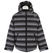 Switch Stripe Snowboard Jacket Black Heather Stripe Youth