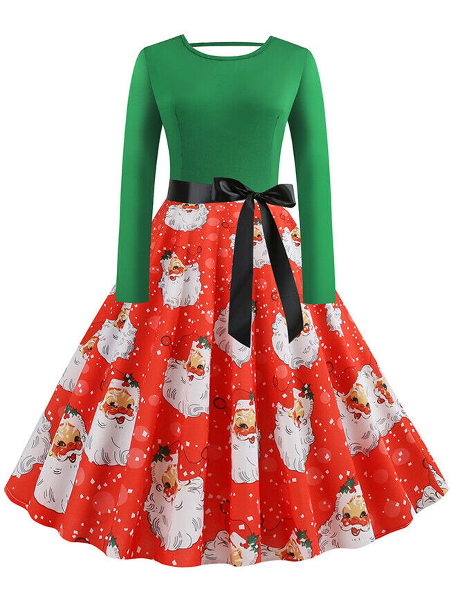 bebiullo - Bebiullo Women Christmas Skater Swing Dress ...