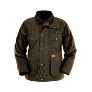 Outback Trading Jacket Mens Overlander Oilskin Zipper Bronze 2161