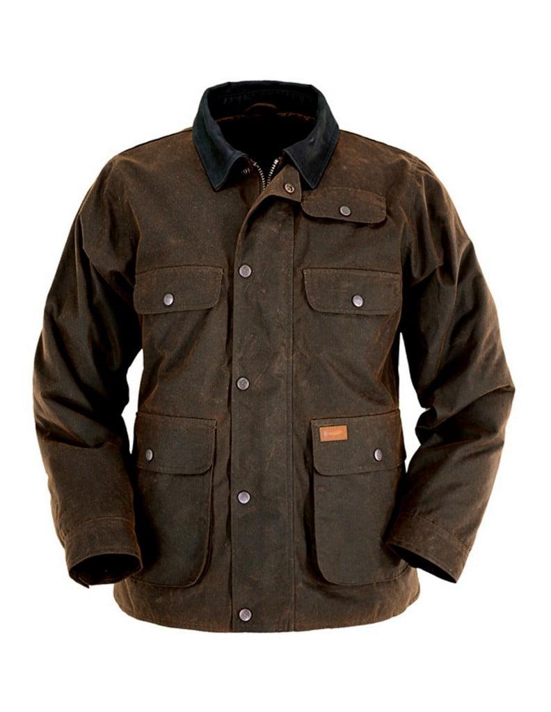 Jacket Mens Overlander Oilskin Zipper Bronze 2161