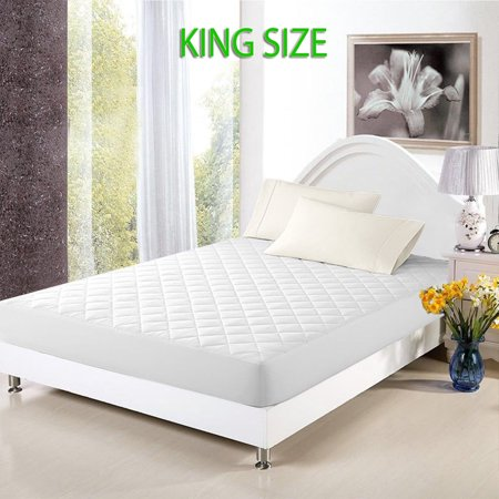 Mattress Cover Bed Topper Bug Dust Mite Waterproof Pad Protector Quilted King Size