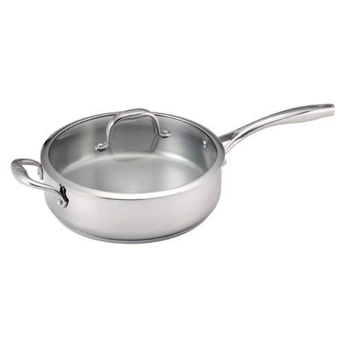 Guy Fieri 5-qt Deep Stainless Steel Saute Pan with Lid