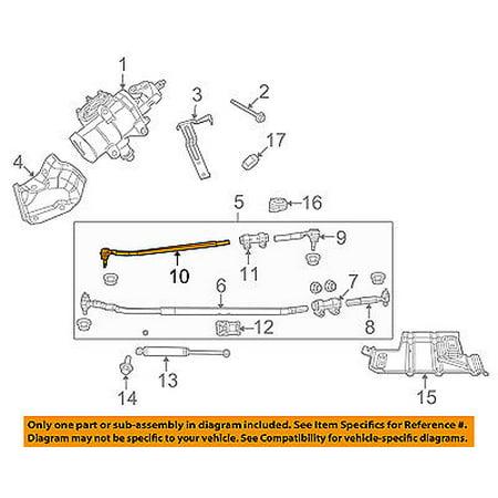 ram chrysler oem 11-13 3500 steering gear-center link 68036726ac -  walmart com