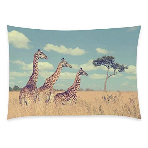 ZKGK Animal Cute Giraffe Home Decor, Baby Group Giraffes Pillowcase 20 x 30... by ZKGK