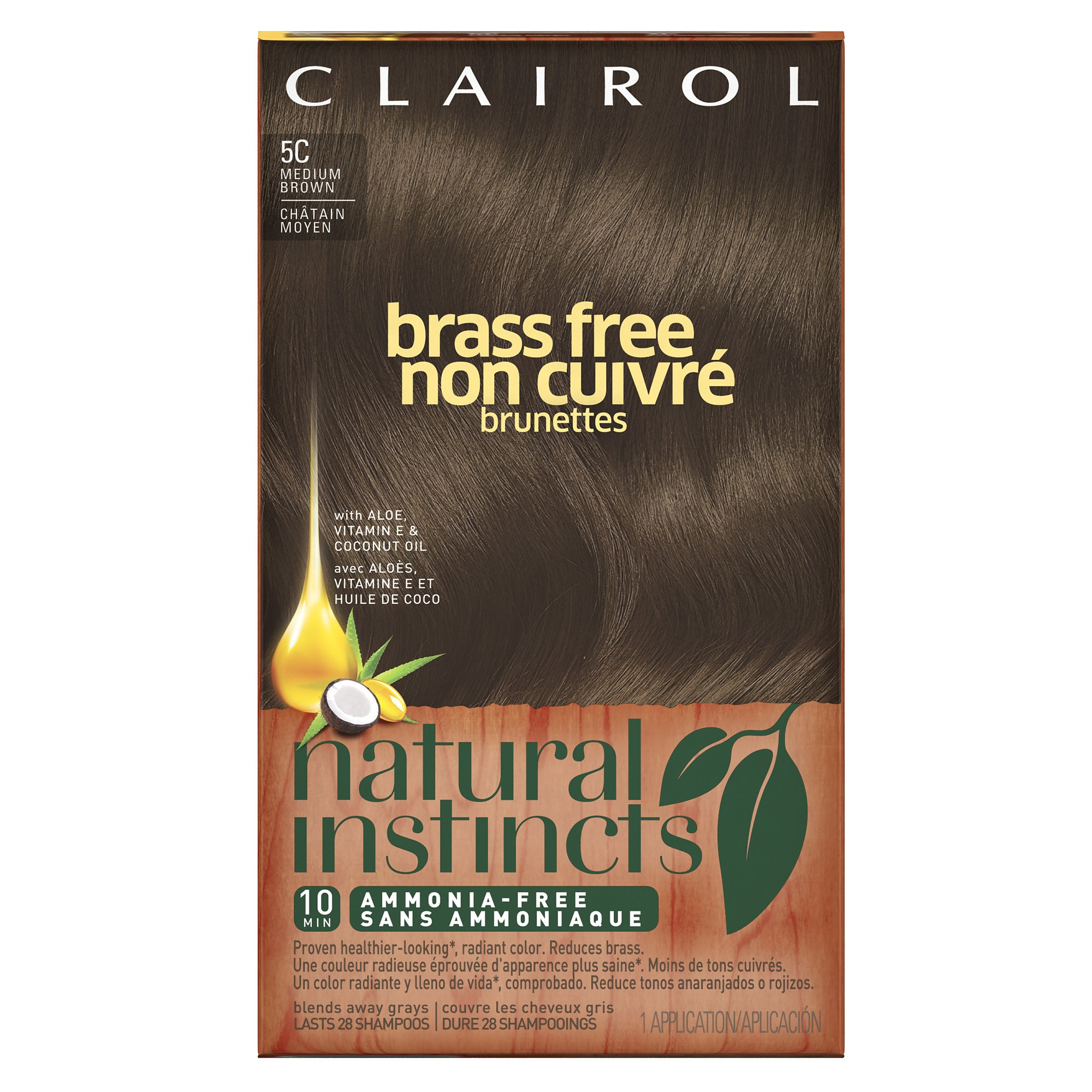 bbd1780053c Clairol Natural Instincts Crème Semi-Permanent Hair Color, Darkest Brown, 31