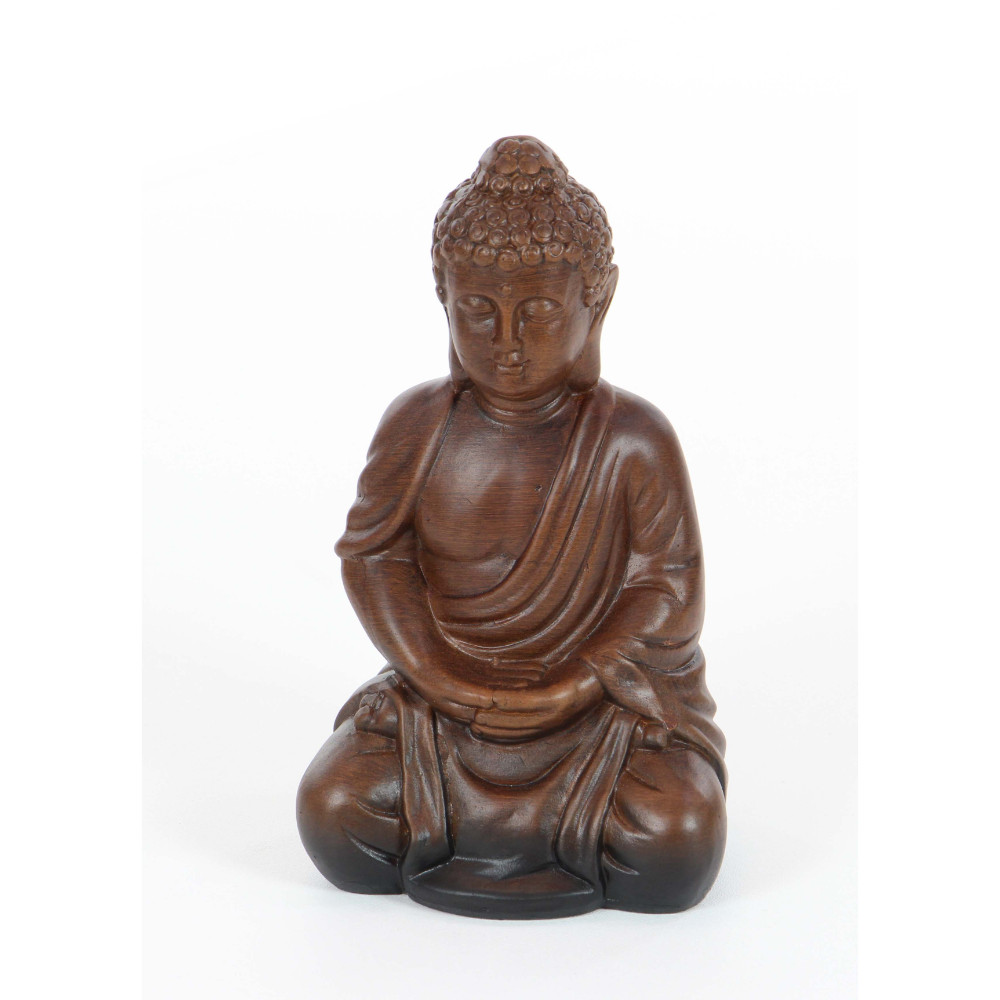 Ceramic Meditating Buddha Statue by Benzara