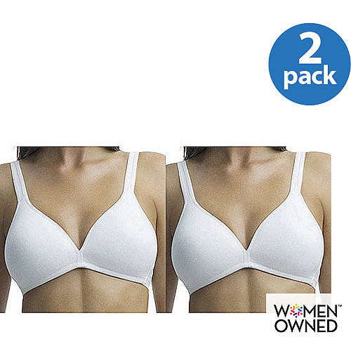 Fruit of the Loom - 2-Pack Stretch Cotton Wire-Free T-Shirt Bra, Style 95013