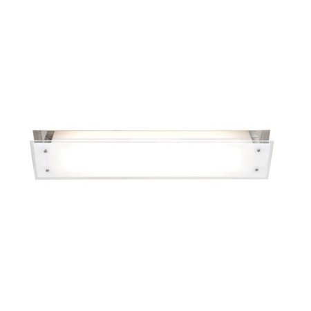31027-BS-FST 5 in. Vision 1 Light Brushed Steel ADA Sconce Wall Light with Frosted Brushed Steel Five Light