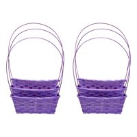Way to Celebrate Large Square Bamboo Easter Baskets, 6 Count