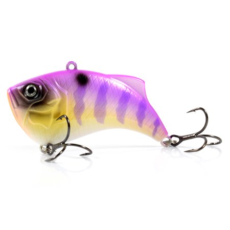 65mm 14g Artificial Hard VIB Bait Crankbait 3D Eyes Lifelike Sinking Fishing Lures Hook with Treble Hooks - image 7 of 7