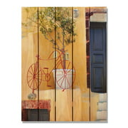 Day Dream HQ RB1624 16 x 24 in. Red Bicycle Inside & Outside Cedar Wall Art