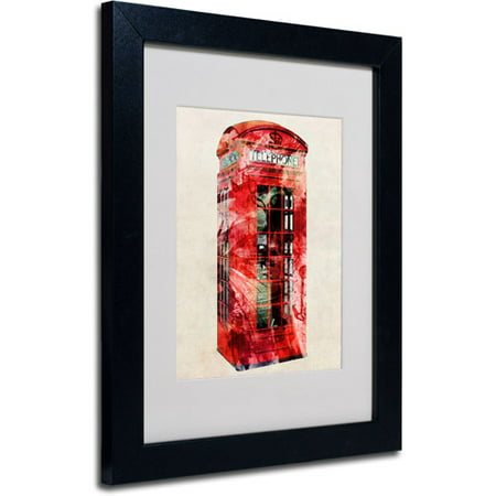 Trademark Art 'Telephone Box' Matted Framed Art by Michael Tompsett
