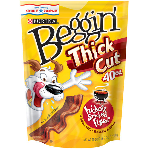 Purina Beggin' Strips Thick Cut Hickory Smoke Flavor Dog Snacks 40 oz. Pouch