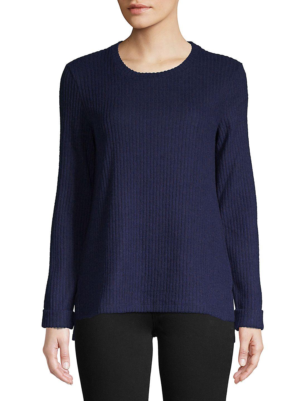 Knit Side Slit Pullover