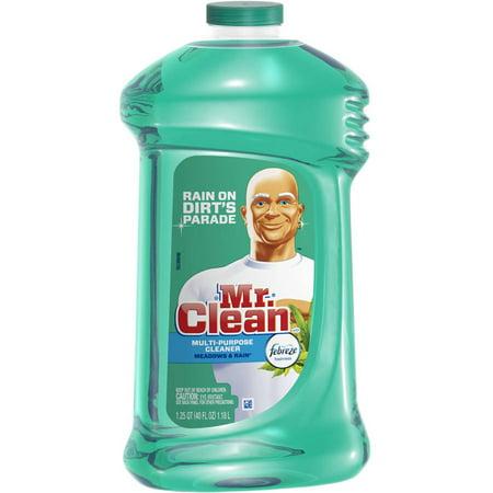 Mr. Clean带有多味清新草甸和雨香的多表面液体清洁剂,40盎司