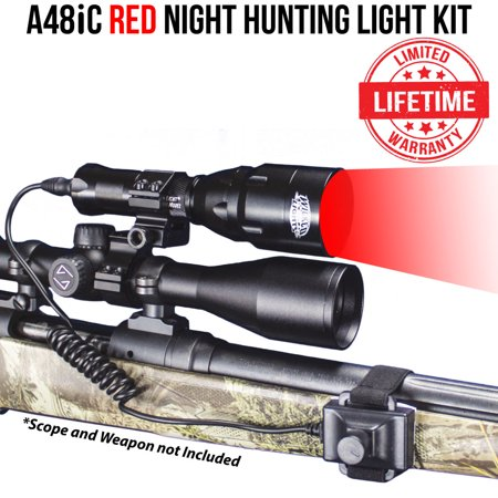 Wicked Lights A48iC Red LED Night Hunting Light Kit