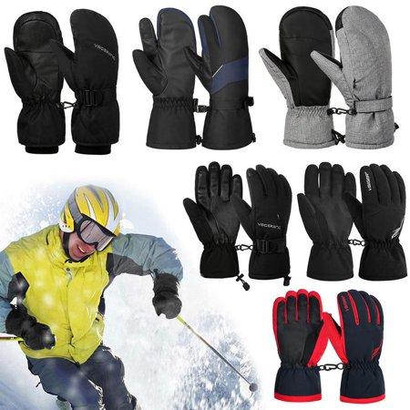 Men Winter Gloves-Fitbest Mens Winter Gloves Thick Winter Warm Mittens Touch Screen Phone Fleece Windproof Gloves