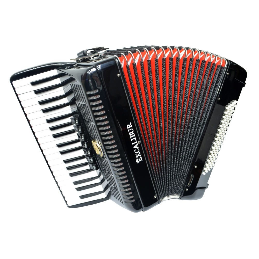 Excalibur German Weltbesten Ultralite 80 Bass Piano Accordion Black by