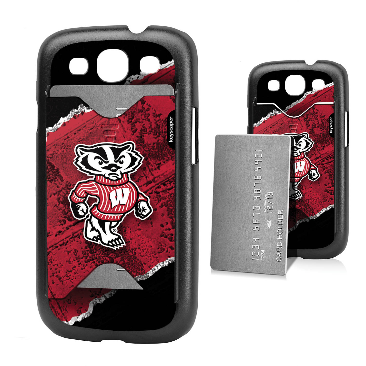 Wisconsin Badgers Galaxy S3 Credit Card Case