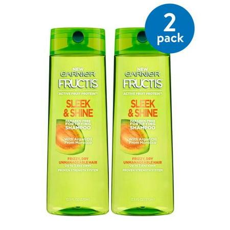 Garnier Fructis Sleek & Shine Shampoo for Dry & Frizzy Hair, 13 Fl Oz (Pack of