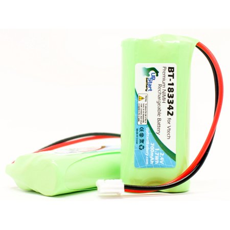 2x Pack Compatible VTech 6041 Battery - Compatible for VTech Cordless Phone Battery (700mAh, 2.4V, NI-MH) - image 4 de 4